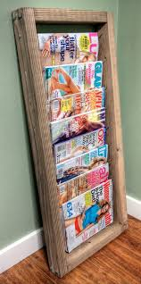 Magazine Holders For Bookshelves Custom 32 DIY Magazine Rack Projects