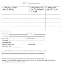 Emergency Contact Forms For Children 35 Permission Slip Templates Field Trip Forms