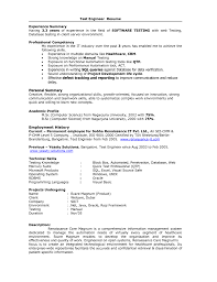 Testing Sample Resumes Sample Resume For Software Test Engineer With Experience Sugarflesh 29