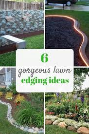 Pretty ideas for lawn and garden edging. Landscaping tips for beginners.  Gardening, Lawn, Lawn Edging, Lawn Edging I… | Garden edging, Landscaping  tips, Lawn edging