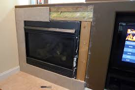 great tile around fireplace