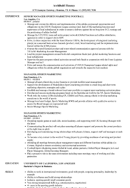 Sports Marketing Resume Manager Sports Marketing Resume Samples Velvet Jobs 1