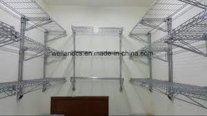 restaurant and hotel kitchen storage rack chrome metal wall mounted wire shelving