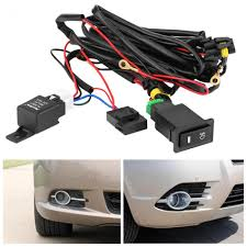 Best Fog Light For Snow Us 9 96 17 Off Wiring Harness Kit Fuse Relay Switch 12v Universal Car Led Fog Light On Off Switch Car Styling In Car Switches Relays From
