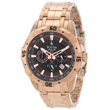 bulova men s 98b121 rose gold tone marine star chronograph watch bulova men s 98b121 rose gold tone marine star chronograph watch shipping today overstock com 15652602