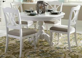 round table dining room furniture. Liberty Furniture Summer House I Round Pedestal Table - Item Number: 607-T4254+ Dining Room L