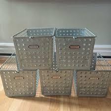 metal storage crates. Beautiful Storage Vintage Wire Metal Basket Bin Storage Industrial Locker And Crates C