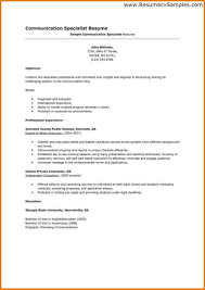 Communications Resume Sample Gallery of Communication Skills Resume Example 36
