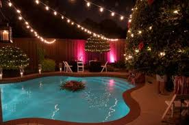 backyard string lighting ideas. modren ideas high voltage lights over pool with backyard string lighting ideas