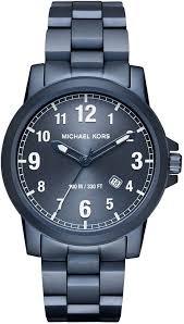 men s michael kors paxton blue steel link watch mk8533