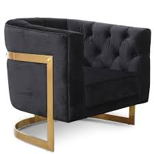Fairfax <b>Armchair Black Velvet</b> | INTERIORS ONLINE
