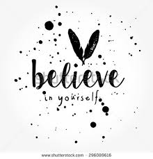 Black And White Quotes Impressive Believe Yourself Typography Poster Black White Stock Vector Royalty