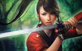 Female warrior art ...