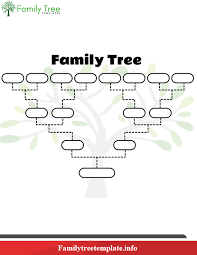 Family Tree Chart Pdf 4 Free Blank Printable Family Tree Template For Kids Pdf