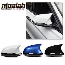 3D Replacement <b>6pcs car styling</b> Glossy Black ABS rear view side ...