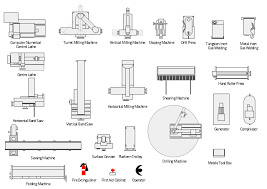 process flow diagram symbols chemical and process engineering machines and equipment symbols vertical milling machine milling machine vertical band saw