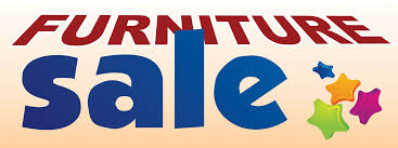 furniture sale banner. Furniture Sale Large 3x8ft Color Banner Sign White Blue Orange - Click Image To Close A