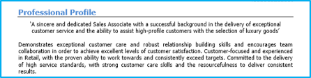 Cv Sales Assistant Retail Sales Assistant Cv Example Writing Guide And Cv