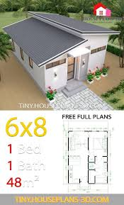 studio house plans 6x8 shed roof tiny