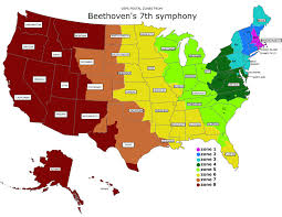 Postal Zones Map Beethovens 7th Symphony