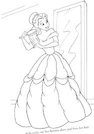 Belle Disney Coloring Pages Betterfor
