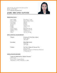 7 Simple Filipino Resume Format Buyer Resume