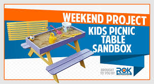 weekend diy project the picnic table sandbox