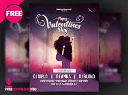 Flyer Poster Templates Valentines Day Flyer Template By Free Download Psd On Dribbble