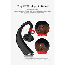Tai nghe bluetooth X23 giảm ồn thông minh âm thanh HD , có thể xoay 180 độ  đeo tai trái tai phải đều được bluetooth 5.0