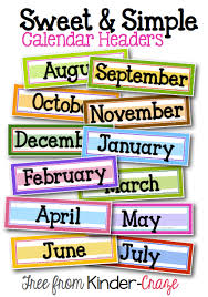 A Sweet And Simple Classroom Calendar Header Classroom Calendar