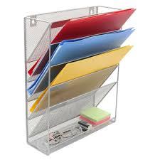 mesh wall mounted file holder metal
