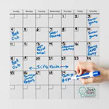 Think Board Self Adhesive Whiteboard Wall And Refrigerator Calendar Peel And Stick Dry Erase Board Wall Cling For Home And Office Removable Wall