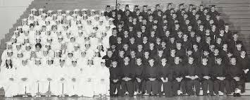 1968 Classmates in Cap & Gowns - Caribou High School Class of 1968