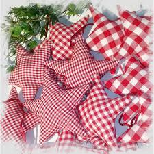 12 Sterne Christbaumschmuck Aus Stoff Rot Weiß Weihnachtsdeko Sterne Für Adventskalender Adventskranz Geschenkanhänger Stoffanhänger