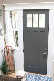 inside front door colors. Charcoal Painted Front Door - The Inspired Room Christmas House Tour Inside Colors