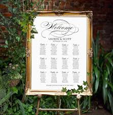 Personalized Seating Chart Wedding Seating Chart Printable Personalized Seating Plan