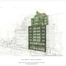 cool architecture drawing. Roman And Williams W-24th---Facade-Rendering-color_SA.jpg · Cool ArchitectureResidential ArchitectureThe RomansArchitectural DrawingsArchitecture Architecture Drawing