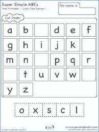 Preschool Alphabet Printable Worksheets Letter Recognition Learning ...