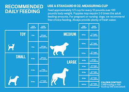 Puppy Eating Chart Are You Feeding Your Dog The Right Amount