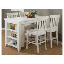 white counter height table. Madaket Counter Height Table With 3 Shelf Storage Wood/White - Jofran Inc. : Target White T
