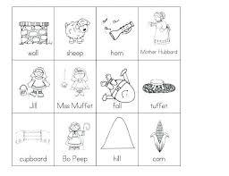 Rhyming Words Free Worksheets Kindergarten For Grade 1 Printable Pdf