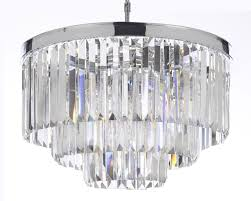 odeon crystal chandelier g902 gallery closeout retro glass fringe