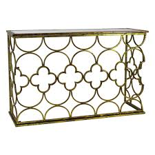 metal console table. myra gold metal console table