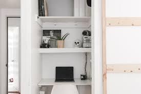 home office in a closet. Home Office In A Closet