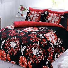 red and black bedspread linear fl super king duvet cover quilt red and black