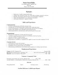 Basic Resume Templates For High School Students Examples How To