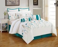 turquoise comforter set king. Wonderful King White Turquoise Comforter Set King For I