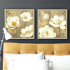 magnolia wall art golden white flower canvas art magnolia painting poster print bedroom decorative wall art on white magnolia wall art with magnolia wall art golden white flower canvas art magnolia painting