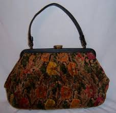 carpet bag purse. vintage 50 s carpetbag carpet bag handbag purse t