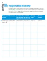 Printable Urine Output Chart Urine Output Chart Pdf The Intake